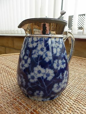 H.J. Wood Primula water jug with pewter lid