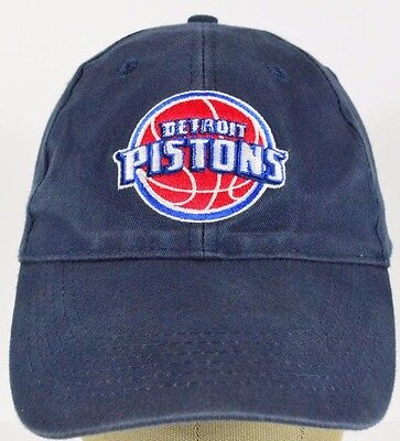 f51f2165b908d Navy Blue Detroit Pistons basketball embroidered baseball hat cap adjustable