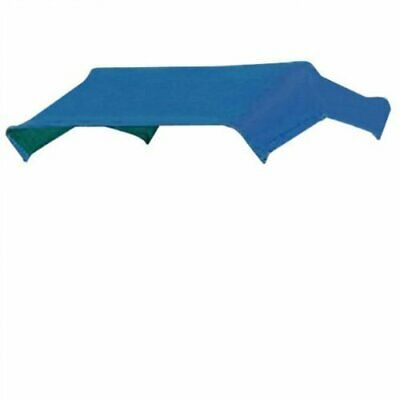 """SNOWCO 3-Bow Tractor Canopy Replacement Cover 40"""" 10 oz. Duck Canvas - Blue"""