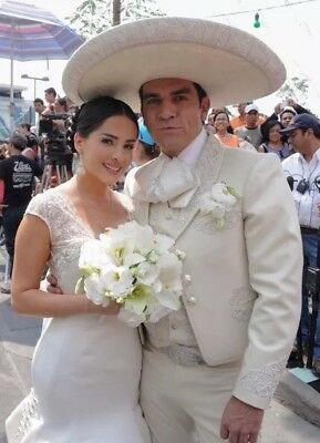 Mariachi Suit Complete White Wedding Suede Like Retail price more than $1000