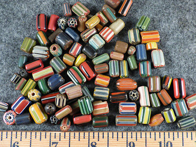 (10) Original Hudson's Bay Company Chevron Trade Beads Huron Indian Fur Trade