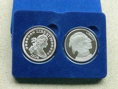 National Collectors Mint Tribute Coins 1804 Draped Bust $1 & 01 Buffalo $1