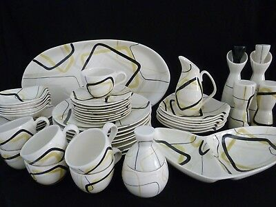 Rare Set of Vintage Red Wing Pottery Smart Set  Mid-century Modern China