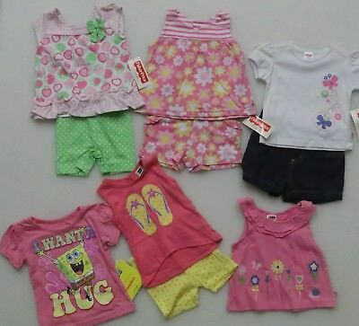 10 Piece LOT BABY GIRL'S SIZE 12 MONTHS SUMMER CLOTHING FISHER PRICE DG GIRL NEW