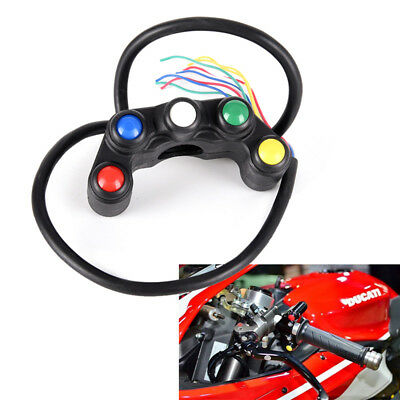 "5 Button Motorcycle Switch Button 7/8"" Handlebar/Light /on-off Button`Waterproof"