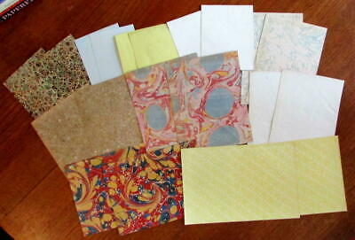 Marbled Paper c.1745-1890's collection x 20 early sheets nice lot assorted