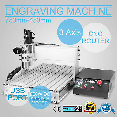 Usb Cnc Router Engraver Engraving Cutter 3 Axis 6040T 3D Artwork 800W Pro