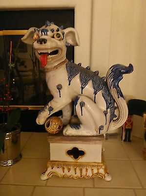 Heavy Large PAIR - Antique FOO DOGS Left and Right-Excellent Condition-FREE SHIP