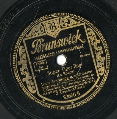 Louis Armstrong Super Tiger Rag / St. Louis Blues Schellack