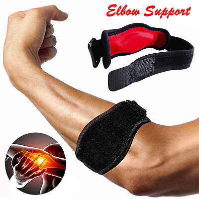 Adjustable Tennis Elbow Brace Arm Support Strap Tendonitis Golfers Relief Sports