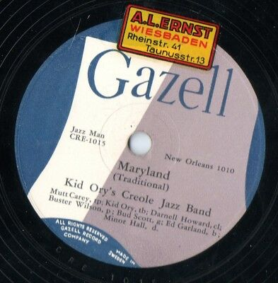 Kid Ory´s Creole Jazz Band Maryland / Oh didn´t He Ramble Schellack
