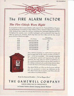 Gamewell Alarm Boxs Make The Difference  1945  Ad              7294