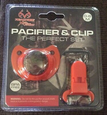 RealTree Pacifier & Clip Perfect Set BPA Free 0-6 Months NEW