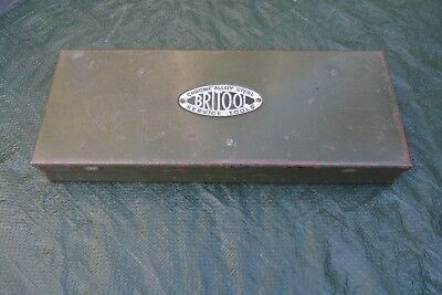 Antique Britool tool / metal socket set box