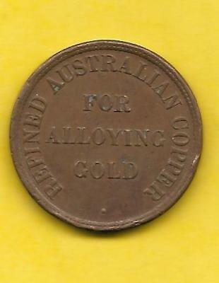 JOSEPH LANE & SON: REFINED AUSTRALIAN COPPER FOR ALLOYING GOLD Token