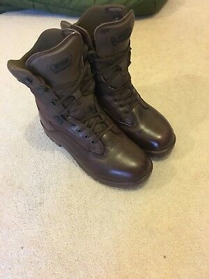 Size 8 M genuine issue brown yds Kestrel patrol boots not altbergs / haix