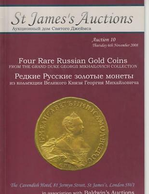 Rare Russian Gold Coins auction catalog, Mikhailovich, St. James #10, 2008