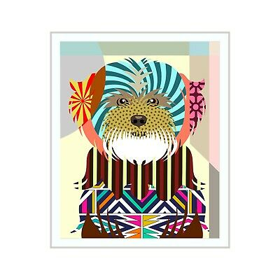 Art Lhasa Apso Dog Pet Portrait Animal Lover Print Puppy Decoration Painting