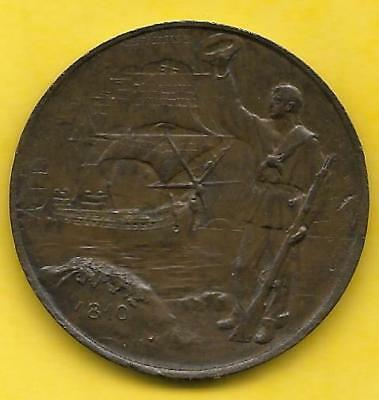 1910 REPUBLIC OF ARGENTINA NAVAL CENTENNIAL COMMEMORATIVE Medal