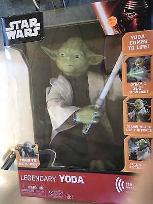 Star Wars Legendary Jedi Master w/ Lightsaber -Train Yoda with Voice Recognition
