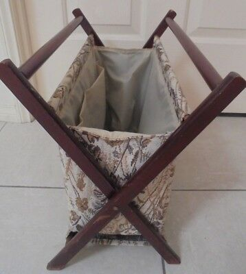Retro Folding Wooden Frame Sewing,Crafts, Knitting Tapestry Storage Tote/ Bag