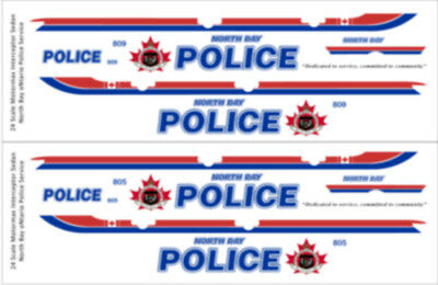 NEW RELEASE! FOR MOTORMAX FORD UTILITY 18 SCALE YORK REGIONAL POLICE DECALS