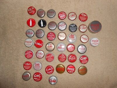 Coca-Cola--Lot of 41--Coca-Cola Coke Soda Bottle Caps