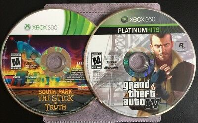 Xbox 360 One ✔ Gta Grand Theft Auto Iv 4 & South Park The Stick Of Truth Bundle