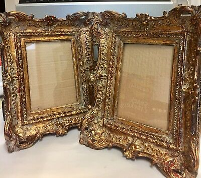 """Pair of Vintage Victorian Style Picture Frames. Picture Size 4.5""""x6.5"""""""