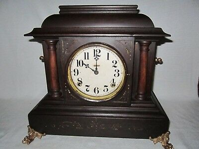 Antique E. Ingraham 8 Day Mantle Clock In Good Working Order