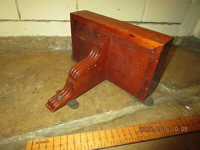 Antique Teak Bracket Clock Bracket / Wooden wall bracket.20cm x 11cm.