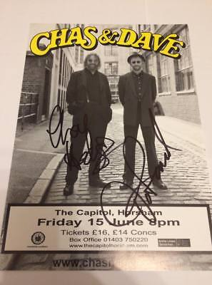Chas And Dave  -   Fully Signed  -  Uk Tour Promo   - Genuine - Uacc