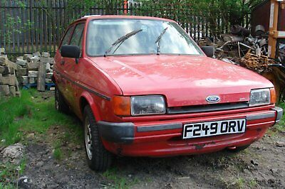 """Ford Fiesta Mk2 1.1 Pop-Plus 1988  """""""" Great Project  """"  No Reserve Auction !"""