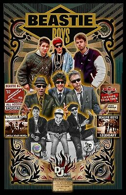 """Beastie Boys- 11x17"""" TRIBUTE Poster - Vivid Colors - Signed by Artist"""