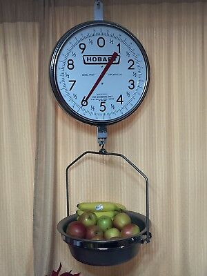 Hobart PR 30 - 30 lb Two-Sided Stainless Hanging Produce Scale w/Basket Complete