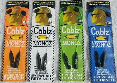 Cablz Monoz Universal End Eyewear  Retainer - 14 Inch Cable Length - NIP