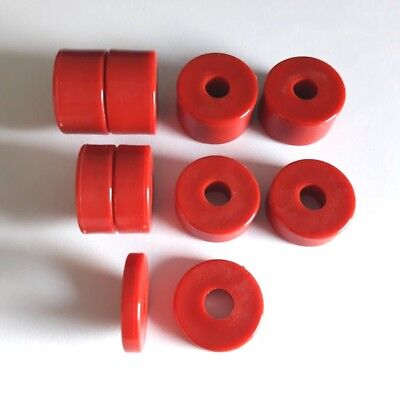 Go-Kart 8mm Seat Fitting Spacers x 10 in Red, 4 x 15mm, 4 x 10mm, 2 x 5mm