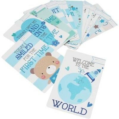 30 Baby Boys  Memorable Moments Milestone Cards New Baby Shower Gift