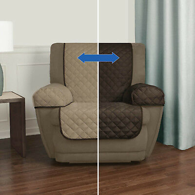 Reversible Recliner Arm Chair Lazy Boy Cover Pet Furniture Slipcover  Protector