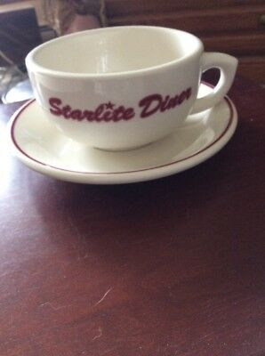 Buffalo China Restaurant Ware Coffee Cup Mug w/ Saucer STARLITE DINER