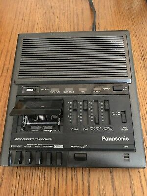 Panasonic RR-930 Microcassette Transcriber Recorder - Tested & Works Great