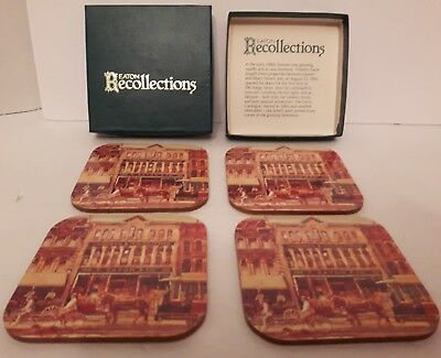 T Eaton co Eatons Recollections coaster set Canadian store vintage RARE Toronto
