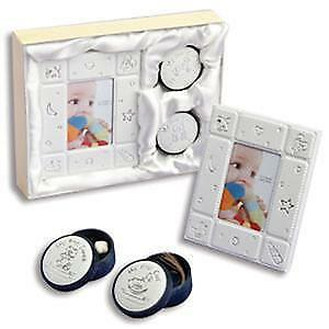Baby Keepsakes : Unisex First Frame, First Tooth & First Curl Baby Gift Set NIB