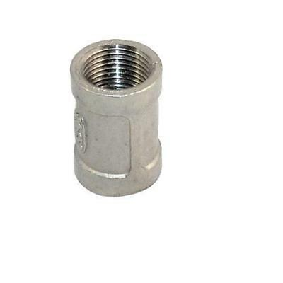 "1/2"" x 1/2"" Female Couple SS 304 Stainless Steel Threaded Pipe Fitting NPT"