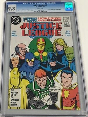 DC Justice League #1 CGC 9.8 1st Appearance of Maxwell Lord / Black King