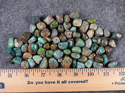 (10) Original Navajo Indian Turquoise Trade Beads Nugget Size Fur Trade 1800's
