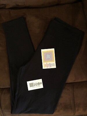Lularoe OS One Size Solid *Black* Leggings *Noir* HTF! *Fast Shipping
