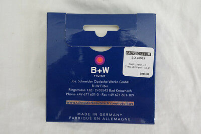 B + W  77mm +2 close up diopter NL-2. New in Box
