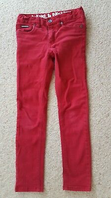 World Industries boys skinny red jeans size 8