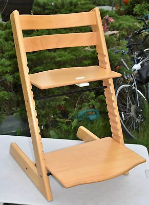 Stokke Tripp Trapp Baby Toddler High Chair Natural Free Shipping **